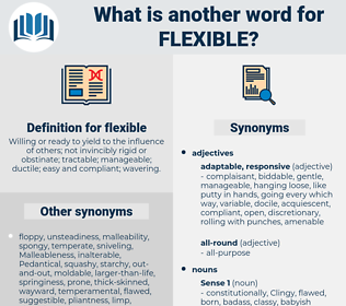 flexible, synonym flexible, another word for flexible, words like flexible, thesaurus flexible