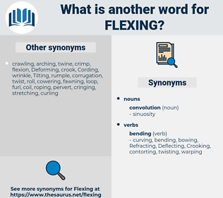 Flexing, synonym Flexing, another word for Flexing, words like Flexing, thesaurus Flexing