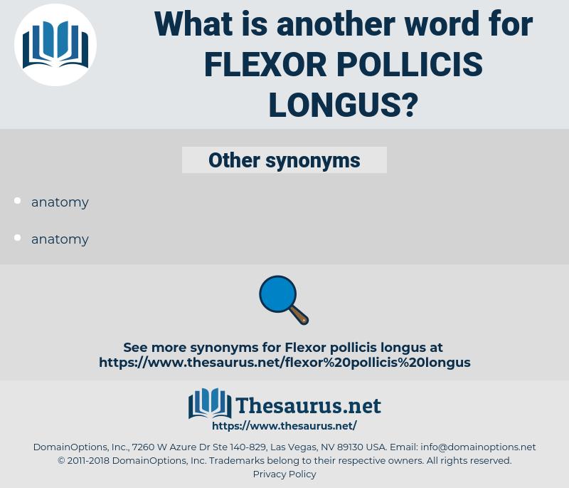 flexor pollicis longus, synonym flexor pollicis longus, another word for flexor pollicis longus, words like flexor pollicis longus, thesaurus flexor pollicis longus