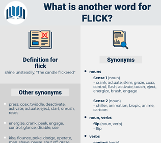 flick, synonym flick, another word for flick, words like flick, thesaurus flick
