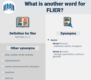 flier, synonym flier, another word for flier, words like flier, thesaurus flier