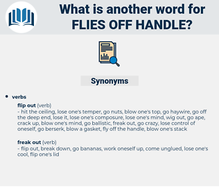 flies off handle, synonym flies off handle, another word for flies off handle, words like flies off handle, thesaurus flies off handle