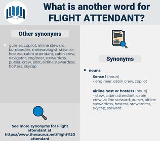 flight attendant, synonym flight attendant, another word for flight attendant, words like flight attendant, thesaurus flight attendant