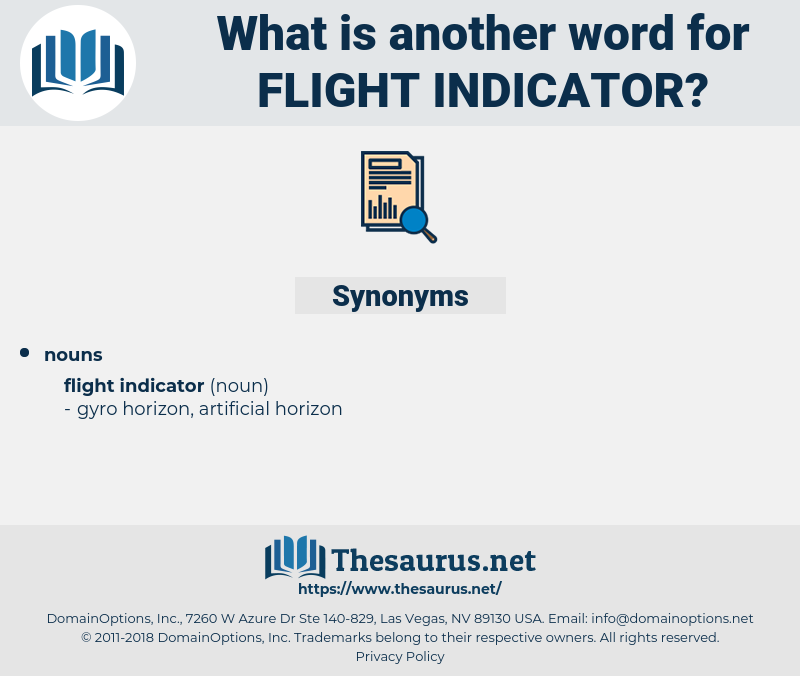 flight indicator, synonym flight indicator, another word for flight indicator, words like flight indicator, thesaurus flight indicator