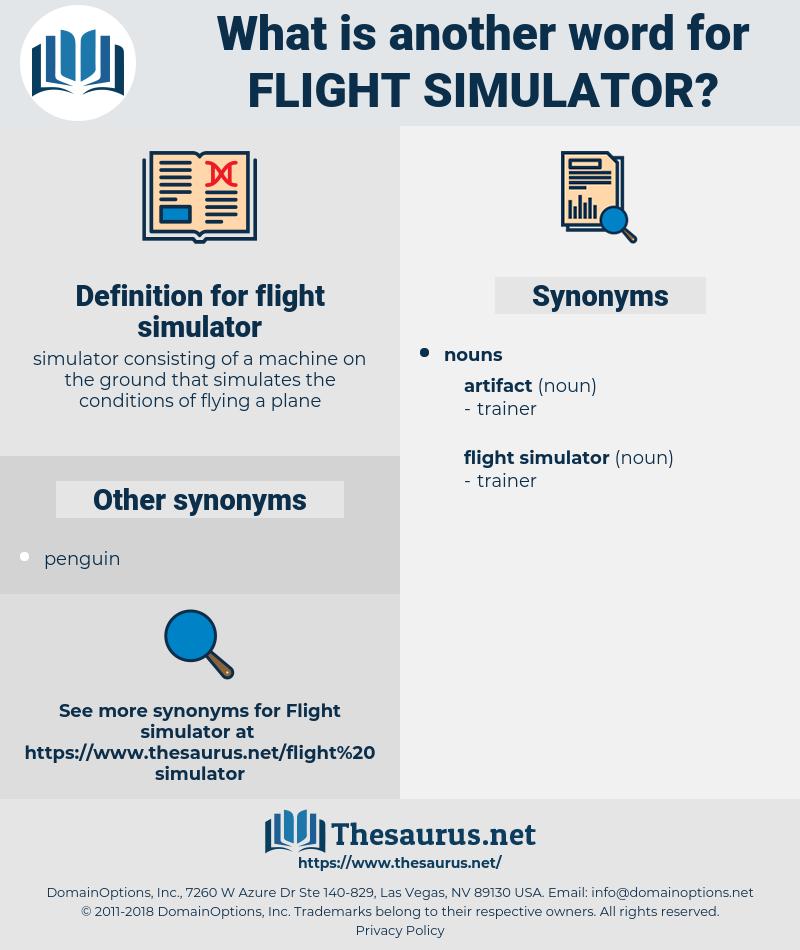 flight simulator, synonym flight simulator, another word for flight simulator, words like flight simulator, thesaurus flight simulator
