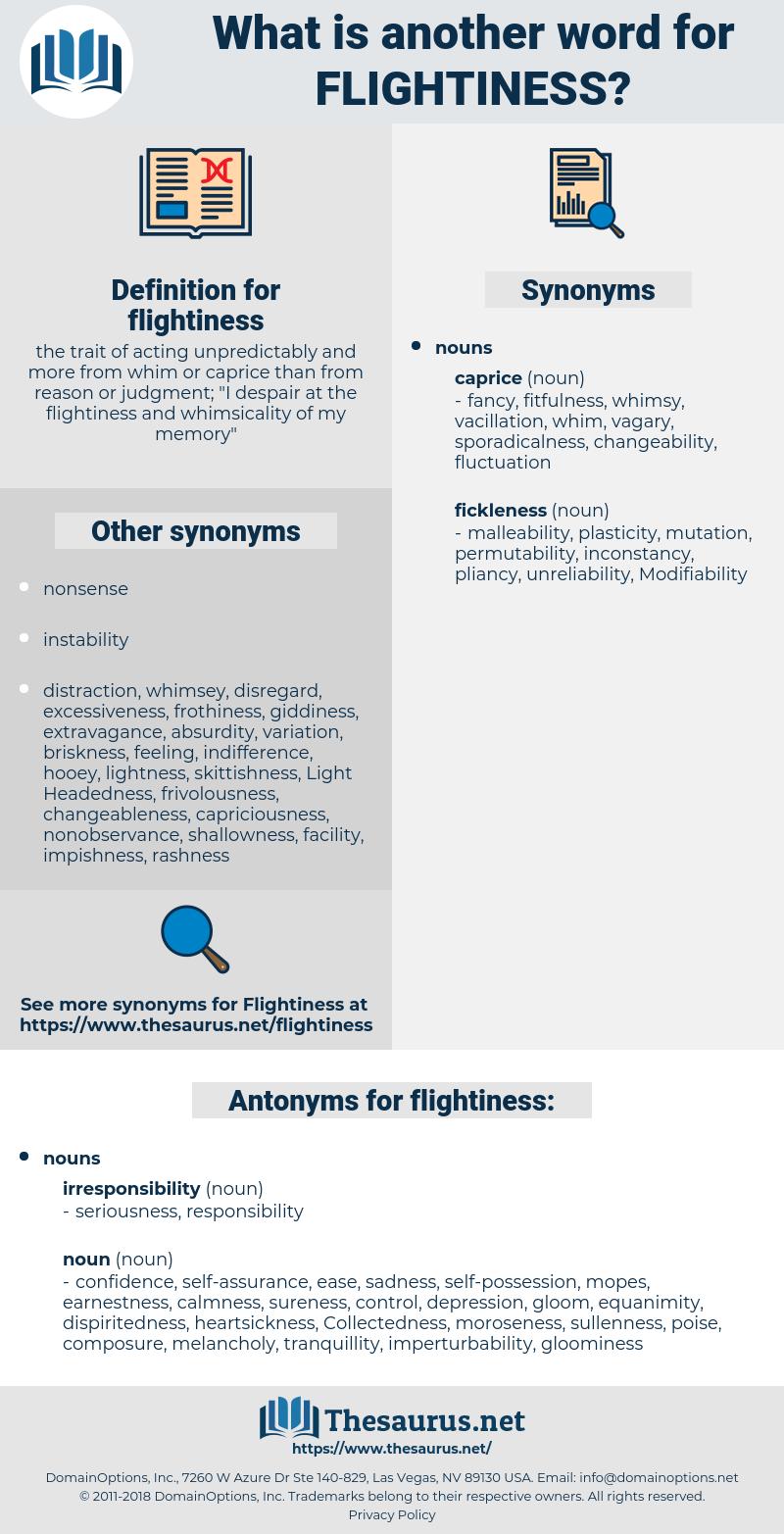 flightiness, synonym flightiness, another word for flightiness, words like flightiness, thesaurus flightiness