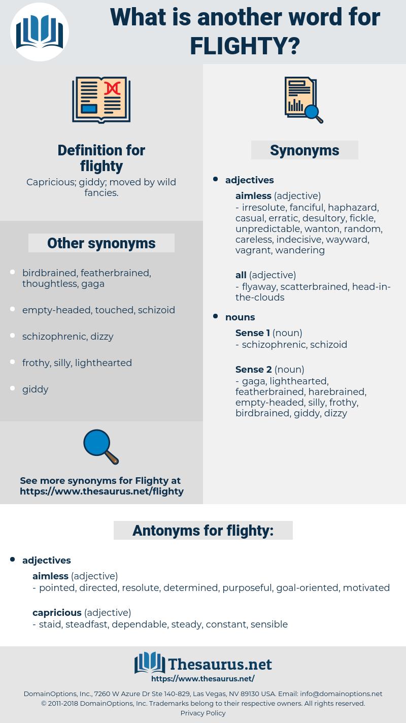 flighty, synonym flighty, another word for flighty, words like flighty, thesaurus flighty