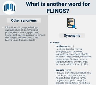 flings, synonym flings, another word for flings, words like flings, thesaurus flings