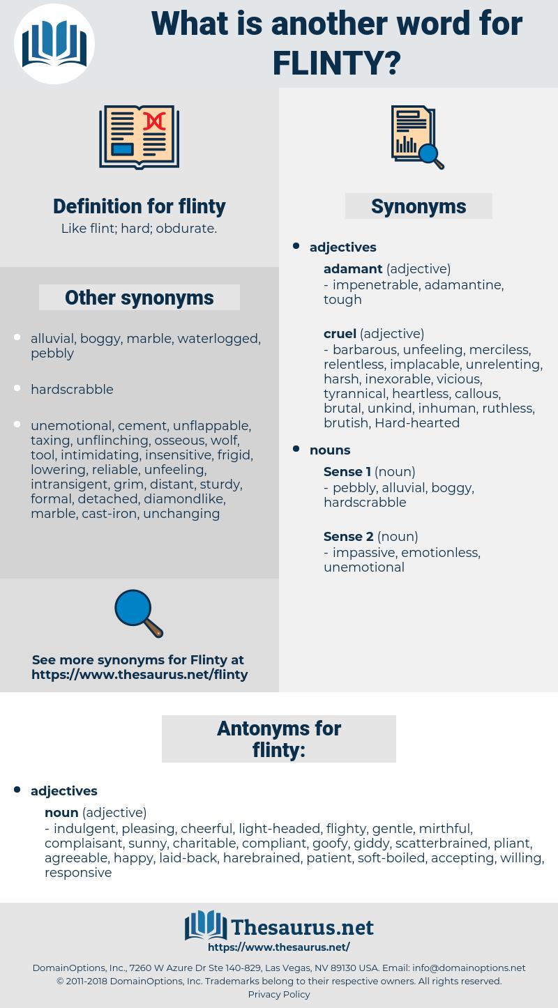 flinty, synonym flinty, another word for flinty, words like flinty, thesaurus flinty