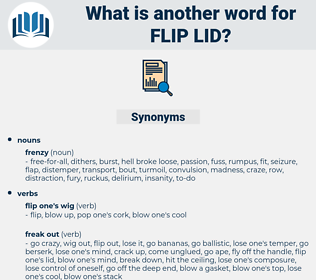 flip lid, synonym flip lid, another word for flip lid, words like flip lid, thesaurus flip lid