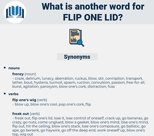 flip one lid, synonym flip one lid, another word for flip one lid, words like flip one lid, thesaurus flip one lid