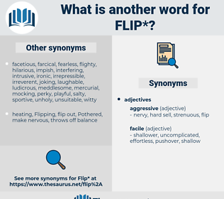 flip, synonym flip, another word for flip, words like flip, thesaurus flip