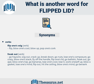 flipped lid, synonym flipped lid, another word for flipped lid, words like flipped lid, thesaurus flipped lid