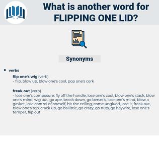 flipping one lid, synonym flipping one lid, another word for flipping one lid, words like flipping one lid, thesaurus flipping one lid