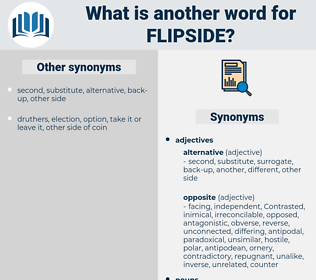 flipside, synonym flipside, another word for flipside, words like flipside, thesaurus flipside
