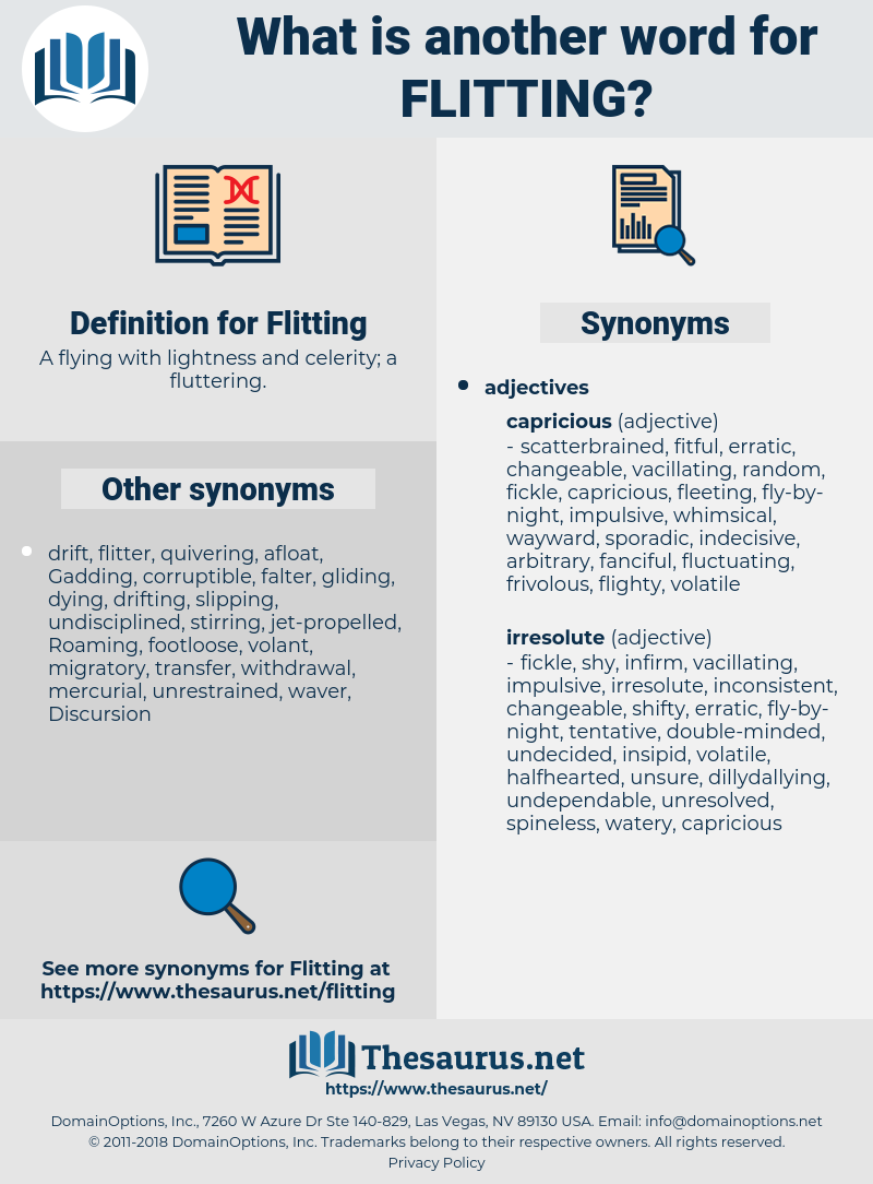Flitting, synonym Flitting, another word for Flitting, words like Flitting, thesaurus Flitting