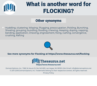 Flocking, synonym Flocking, another word for Flocking, words like Flocking, thesaurus Flocking