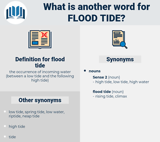 flood tide, synonym flood tide, another word for flood tide, words like flood tide, thesaurus flood tide