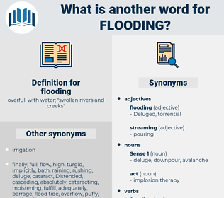 flooding, synonym flooding, another word for flooding, words like flooding, thesaurus flooding