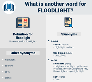 floodlight, synonym floodlight, another word for floodlight, words like floodlight, thesaurus floodlight