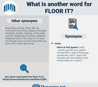 floor it, synonym floor it, another word for floor it, words like floor it, thesaurus floor it