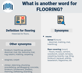 flooring, synonym flooring, another word for flooring, words like flooring, thesaurus flooring