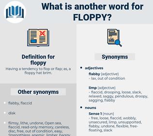 floppy, synonym floppy, another word for floppy, words like floppy, thesaurus floppy