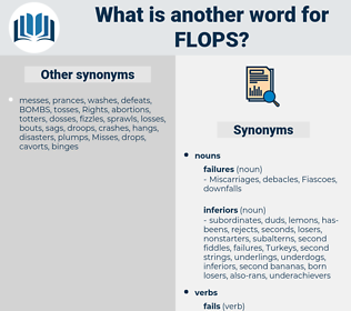 flops, synonym flops, another word for flops, words like flops, thesaurus flops