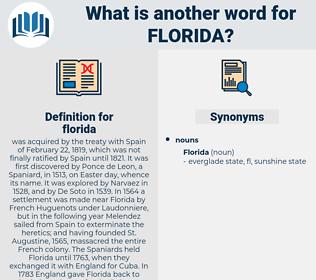 florida, synonym florida, another word for florida, words like florida, thesaurus florida