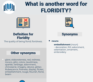Floridity, synonym Floridity, another word for Floridity, words like Floridity, thesaurus Floridity