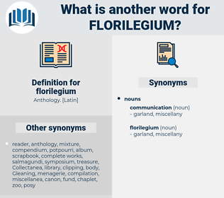 florilegium, synonym florilegium, another word for florilegium, words like florilegium, thesaurus florilegium