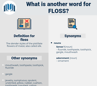 floss, synonym floss, another word for floss, words like floss, thesaurus floss