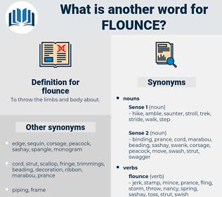 flounce, synonym flounce, another word for flounce, words like flounce, thesaurus flounce