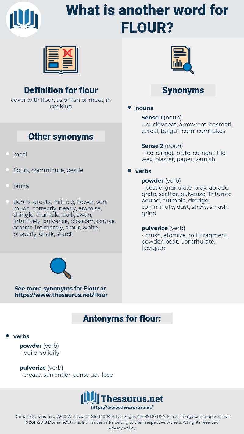 flour, synonym flour, another word for flour, words like flour, thesaurus flour