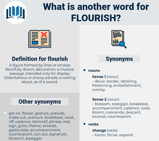 flourish, synonym flourish, another word for flourish, words like flourish, thesaurus flourish