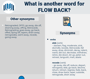 flow back, synonym flow back, another word for flow back, words like flow back, thesaurus flow back