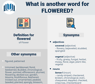 flowered, synonym flowered, another word for flowered, words like flowered, thesaurus flowered