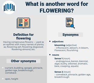 flowering, synonym flowering, another word for flowering, words like flowering, thesaurus flowering