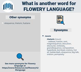 flowery language, synonym flowery language, another word for flowery language, words like flowery language, thesaurus flowery language