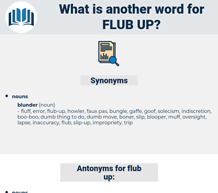 flub up, synonym flub up, another word for flub up, words like flub up, thesaurus flub up