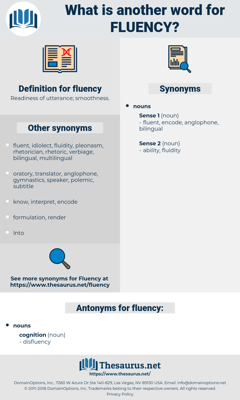 fluency, synonym fluency, another word for fluency, words like fluency, thesaurus fluency