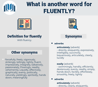 fluently, synonym fluently, another word for fluently, words like fluently, thesaurus fluently