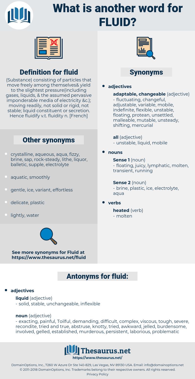 fluid, synonym fluid, another word for fluid, words like fluid, thesaurus fluid