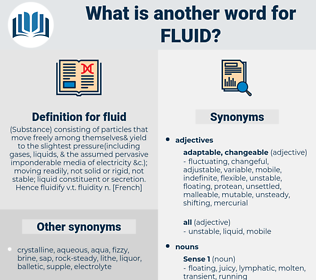 Synonyms for FLUID, Antonyms for FLUID - Thesaurus net