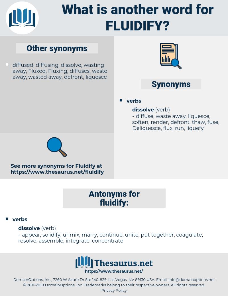 fluidify, synonym fluidify, another word for fluidify, words like fluidify, thesaurus fluidify