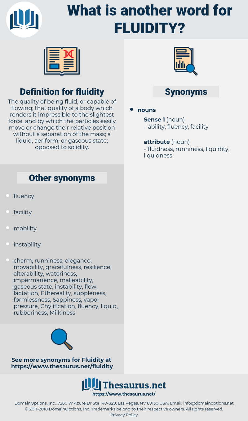 fluidity, synonym fluidity, another word for fluidity, words like fluidity, thesaurus fluidity