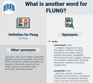 Flung, synonym Flung, another word for Flung, words like Flung, thesaurus Flung