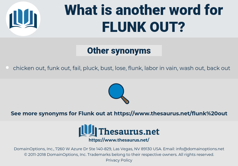 flunk out, synonym flunk out, another word for flunk out, words like flunk out, thesaurus flunk out