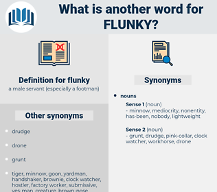 flunky, synonym flunky, another word for flunky, words like flunky, thesaurus flunky