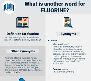 fluorine, synonym fluorine, another word for fluorine, words like fluorine, thesaurus fluorine